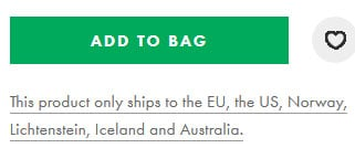 asos shipping countries