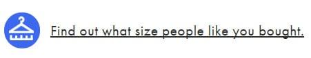 asos find size