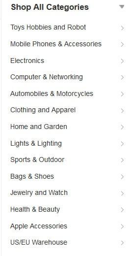 banggood categories